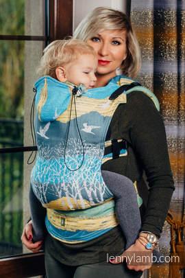 Nosidełko Ergonomiczne z tkaniny żakardowej 100% bawełna , Baby Size, WĘDRÓWKA - Druga Generacja