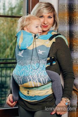 Nosidełko Ergonomiczne z tkaniny żakardowej 100% bawełna , Toddler Size, WĘDRÓWKA - Druga Generacja