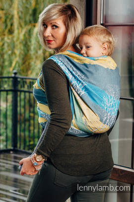 Baby Wrap, Jacquard Weave (100% cotton) - WANDER - size S (grade B)