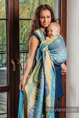 Baby Wrap, Jacquard Weave (100% cotton) - WANDER - size XS (grade B)