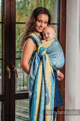 Baby Wrap, Jacquard Weave (100% cotton) - WANDER - size XL
