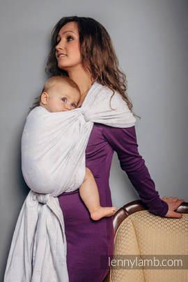 Baby Wrap, Jacquard Weave (80% cotton, 17% merino wool, 2% silk, 1% cashmere) - VINTAGE LACE - size XS