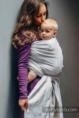 Baby Wrap, Jacquard Weave (80% cotton, 17% merino wool, 2% silk, 1% cashmere) - VINTAGE LACE - size XL