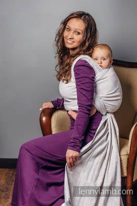 Baby Wrap, Jacquard Weave (80% cotton, 17% merino wool, 2% silk, 1% cashmere) - VINTAGE LACE - size S