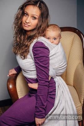 Baby Wrap, Jacquard Weave (80% cotton, 17% merino wool, 2% silk, 1% cashmere) - VINTAGE LACE - size L