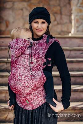 Nosidełko Ergonomiczne z tkaniny żakardowej 100% bawełna , Baby Size, DZIKIE WINO - Druga Generacja