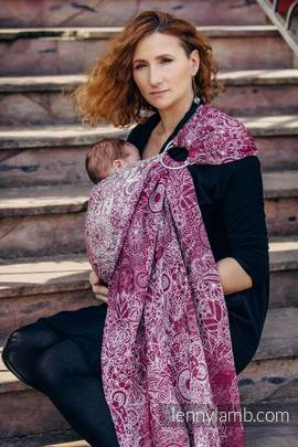 Ringsling, Jacquard Weave (100% cotton) - WILD WINE
