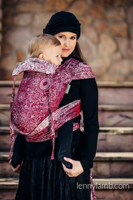 WRAP-TAI carrier Toddler with hood/ jacquard twill / 100% cotton / WILD WINE