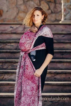 Baby Wrap, Jacquard Weave (100% cotton) - WILD WINE - size S