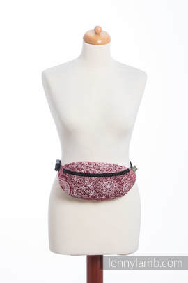 Waist Bag made of woven fabric, (100% cotton) - WILD WINE