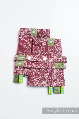 Drool Pads & Reach Straps Set, (100% cotton) - WILD WINE