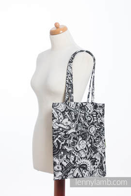 Shopping bag made of wrap fabric (100% cotton) - CLOCKWORK