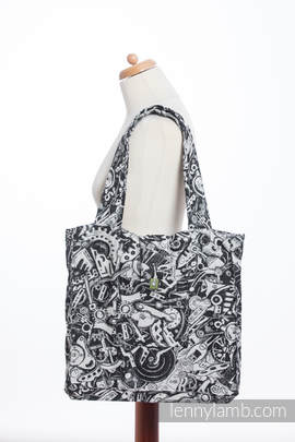 Shoulder bag made of wrap fabric (100% cotton) - CLOCKWORK - standard size 37cmx37cm