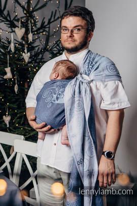 Żakardowa chusta kółkowa do noszenia dzieci, bawełna, ramię bez zakładek - ZIMOWA KSIĘŻNICZKA (drugi gatunek)