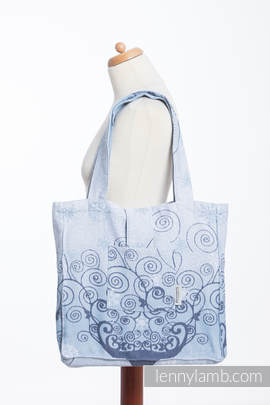 Shoulder bag made of wrap fabric (100% cotton) - WINTER PRINCESSA - standard size 37cmx37cm (grade B)