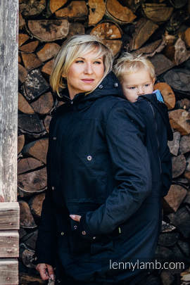 Parka Babywearing Coat - size XL - Black & Diamond Plaid