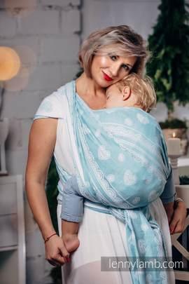 Żakardowa chusta do noszenia dzieci, 60% Bawełna 28% Len 12% Jedwab Tussah - ARKTYCZNA KORONKA - rozmiar XL