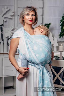 Żakardowa chusta do noszenia dzieci, 60% Bawełna 28% Len 12% Jedwab Tussah - ARKTYCZNA KORONKA - rozmiar M (drugi gatunek)