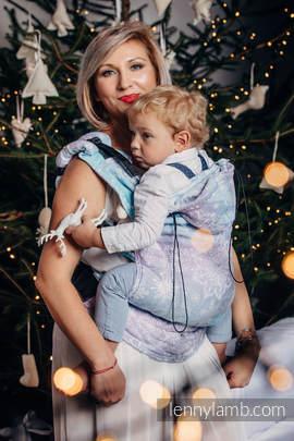 Nosidełko Ergonomiczne z tkaniny żakardowej, 96% bawełna, 4% przędza metalizowana, Toddler Size, LŚNIĄCA KRÓLOWA ŚNIEGU - Druga Generacja
