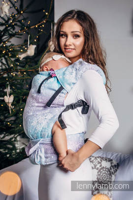 LennyUp Carrier, Standard Size, jacquard weave 96% cotton, 4% metallised yarn - wrap conversion from GLITTERING SNOW QUEEN