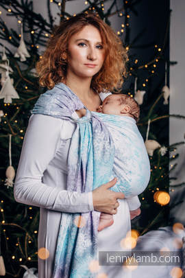 Ringsling, Jacquard Weave (96% cotton, 4% metallised yarn) - GLITTERING SNOW QUEEN
