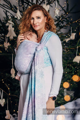 Baby Wrap, Jacquard Weave (96% cotton, 4% metallised yarn) - GLITTERING SNOW QUEEN - size S