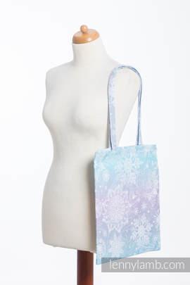 Einkaufstasche, hergestellt aus gewebtem Stoff (96 % Baumwolle, 4% metallisiertes Garn) - GLITTERING SNOW QUEEN