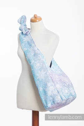 Hobo Tasche, hergestellt vom gewebten Stoff (96 % Baumwolle, 4% metallisiertes Garn) - GLITTERING SNOW QUEEN