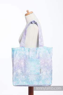 Schultertasche, hergestellt vom gewebten Stoff (96 % Baumwolle, 4% metallisiertes Garn) - GLITTERING SNOW QUEEN