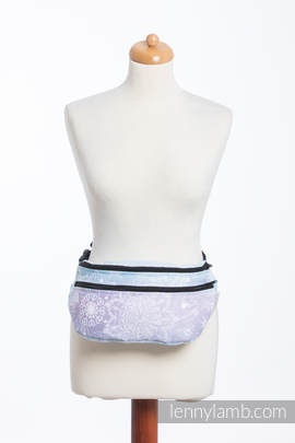 Waist Bag made of woven fabric, size large (96% cotton, 4% metallised yarn) - GLITTERING SNOW QUEEN