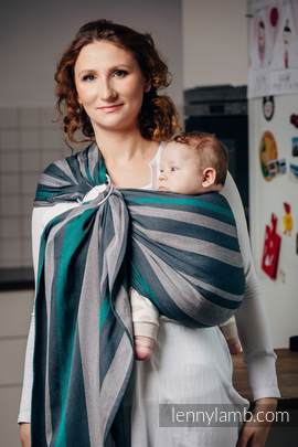 Ring Sling - 100% Cotton - Broken Twill Weave - SMOKY - MINT