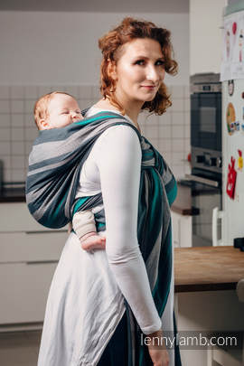 Baby Sling, Broken Twill Weave, 100% cotton,  SMOKY - MINT - size L (grade B)