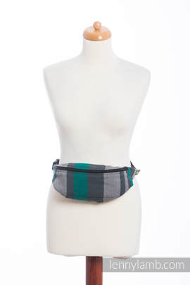 Waist Bag made of woven fabric, (100% cotton) - SMOKY - MINT