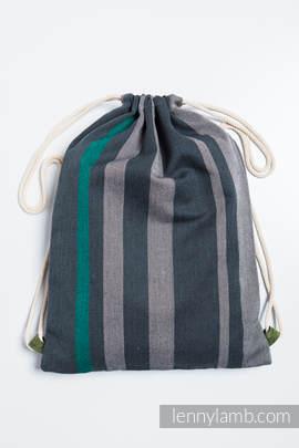 Turnbeutel, hergestellt vom gewebten Stoff (100% Baumwolle) - SMOKY - MINT - Standard Größe 32cmx43cm