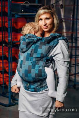 Ergonomic Carrier, Toddler Size, crackle weave 100% cotton - wrap conversion from QUARTET RAINY - Second Generation