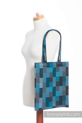 Shopping bag made of wrap fabric (100% cotton) - QUARTET RAINY (grade B)