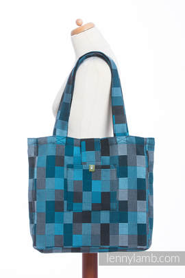 Shoulder bag made of wrap fabric (100% cotton) - QUARTET RAINY - standard size 37cmx37cm