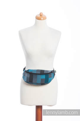 Waist Bag made of woven fabric, (100% cotton) - QUARTET RAINY