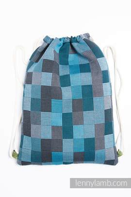 Sackpack made of wrap fabric (100% cotton) - QUARTET RAINY - standard size 32cmx43cm