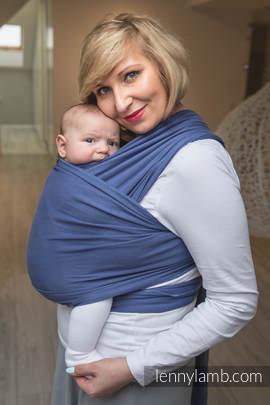 Chusta do noszenia dzieci, elastyczna - Lapis Lazuli - rozmiar standardowy 5.0 m