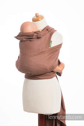 WRAP-TAI carrier Toddler, diamond weave - 100% cotton - with hood,BROWN DIAMOND
