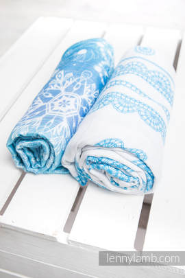 Swaddle Wrap Set - SNOW QUEEN, ICED LACE TURQUOISE & WHITE