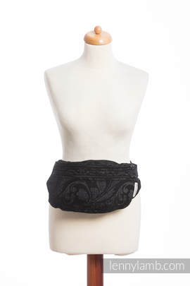 Waist Bag made of woven fabric, size large (96% cotton, 4% metallised yarn) - TWISTED LEAVES METAL & DUST