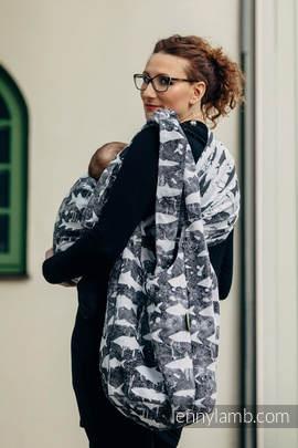 Hobo Bag made of woven fabric, 100% cotton - FISH'KA