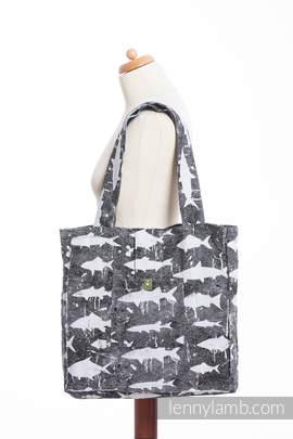 Shoulder bag made of wrap fabric (100% cotton) - FISH'KA - standard size 37cmx37cm