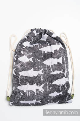 Sackpack made of wrap fabric (100% cotton) - FISH'KA - standard size 32cmx43cm