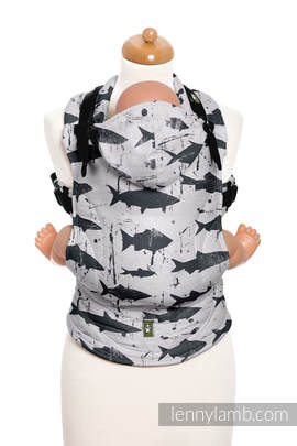 Nosidełko Ergonomiczne z tkaniny żakardowej 100% bawełna , Toddler Size, FISH'KA REWRES - Druga Generacja