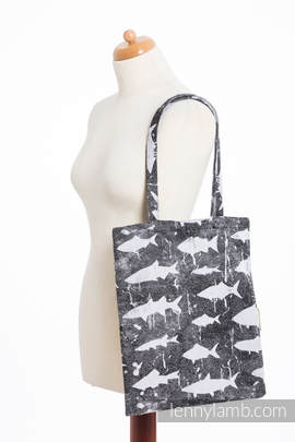 Shopping bag made of wrap fabric (100% cotton) - FISH'KA