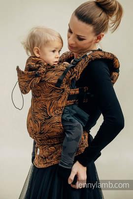 Nosidełko Ergonomiczne z tkaniny żakardowej, 50% bawełna, 50% len, Toddler Size, ZŁOTA ROSZPUNKA - Druga Generacja
