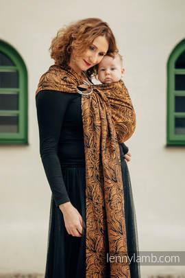 Żakardowa chusta kółkowa do noszenia dzieci, 50% bawełna, 50% len - ZŁOTA ROSZPUNKA